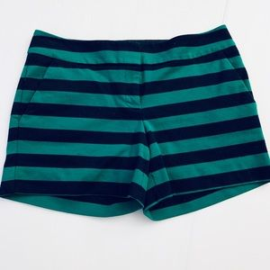 """Outback Red 5"""" Shorts Navy Green Striped Shorts 6"""